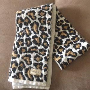 {Coach} Leopard Wool Angora Cashmere Scarf